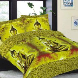 geel dekbedovertrek