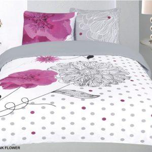 dekbedovertrek roze bloemen