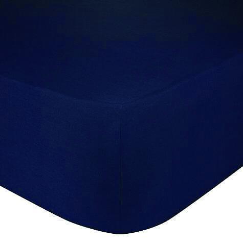 Hoeslaken donkerblauw