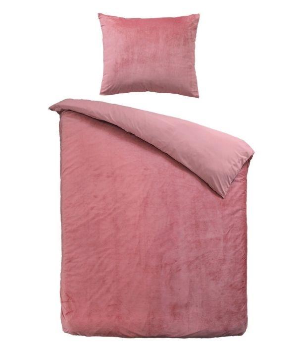 Dekbedovertrek licht roze