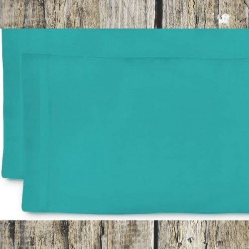 Turquoiseblauw kussenhoes